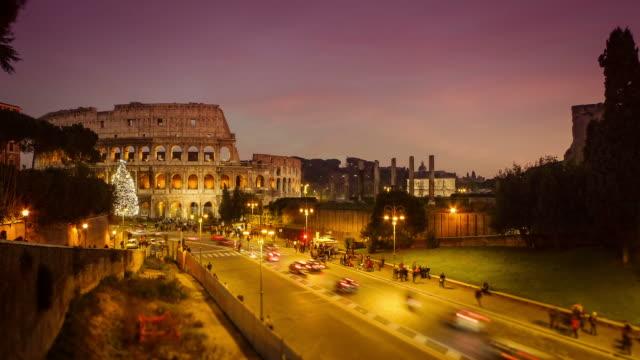 Coliseum of Rome: Night Timelapse HD Video