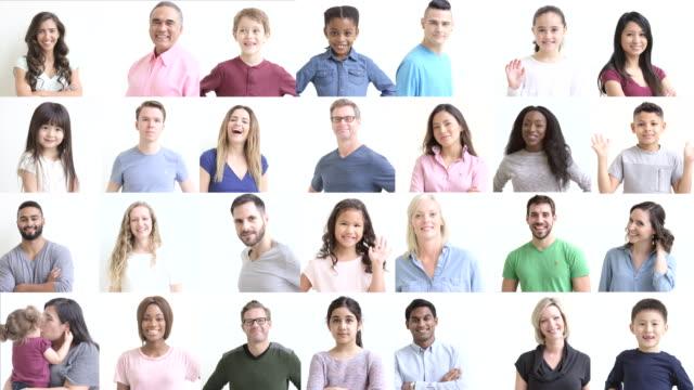 Collage von Menschen
