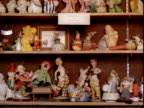 MS, Collection of clown figurines on shelves, Tonopah, Nevada, USA
