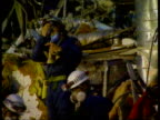 Collection T21049501 2141995 Hunt for survivors following the Oklahoma terrorist bombing Oklahoma Oklahoma city Emergency services at the scene of...