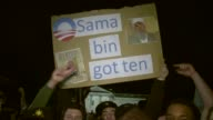 college students celebrate the death of Osama bin Laden outside the White House US Reaction to Osama Bin Laden's Death on May 02 2011 in Washington DC