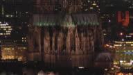 MS, HA, Cologne cathedral illuminated at night, Germany