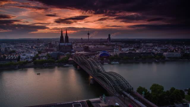 Rhein in Köln, Deutschland und