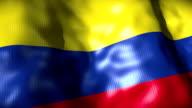 Colombia Flag waving, looping