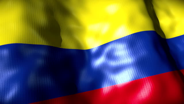 Colombia Flag waving, looping