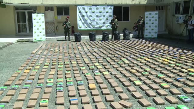 Colombian anti narcotic police seized on Thursday over 1000 kilos of cocaine hidden in a container which was destined to Europe via Central America