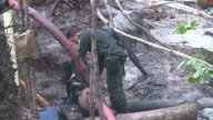 Colombian authorities said Monday nearly 60 people were arrested in raids last week targeting illegal mining operations used to finance the FARC...