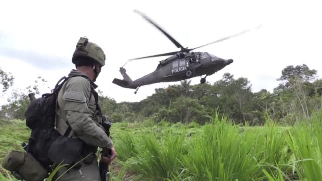Colombian authorities say that police destroyed 104 cocaine labs during an operation in the jungle and that the FARC guerrilla group had been...