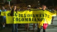 Colombian fans are overjoyed after their decisive 2 0 win over Uruguay a victory which takes them into the quarter finals of the World Cup for the...