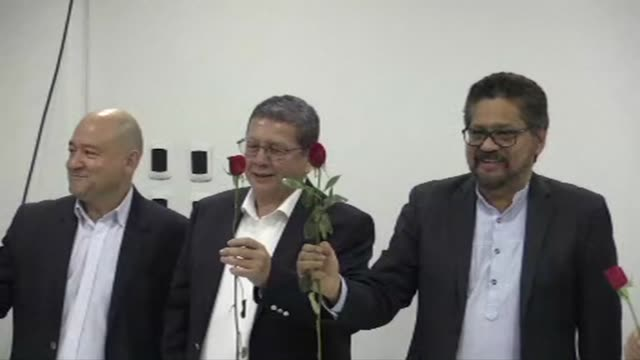 Colombia's FARC former guerrillas relaunch Friday as a political party changing their logo of rifles for a red rose after disarming to end a...