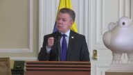 Colombias most powerful drug trafficking gang the Gulf Clan is ready to turn itself in to the authorities President Juan Manuel Santos announced...