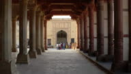 A colonnade inside a fort in Rajasthan