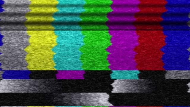 TV color bars malfunction (Loop).