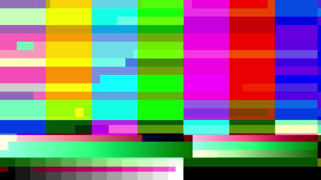 TV color bars with a digital malfunction (Loop).