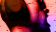 DJ colore digitale statico incidente