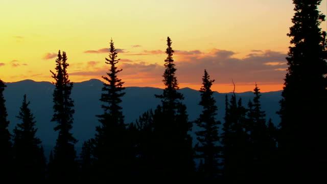 Colorado Mountain Sunset Time Lapse