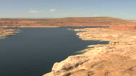 WS AERIAL Colorado River along shoreline in Coconino County / Arizona, United States