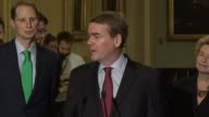 Colorado Senator Mike Bennet jokes about the use of the word shibboleth at a weekly press briefing telling reporters that tax reform should not add...