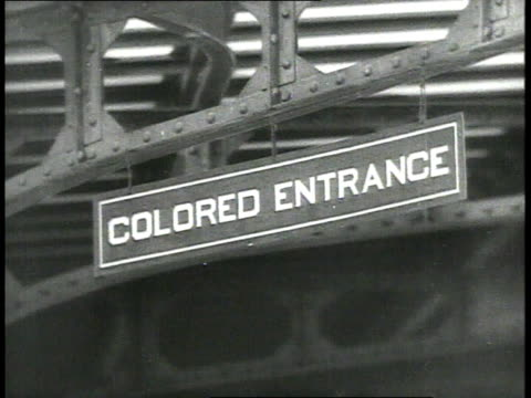 Colored entrance sign in front of Union Station / Richmond Virginia USA