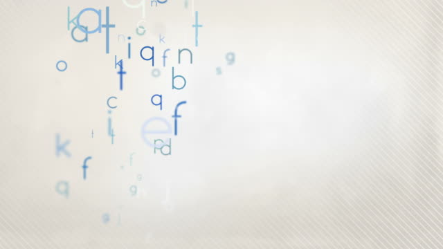 Colorful Alphabet Letters Background Loop - Pastel Blue HD