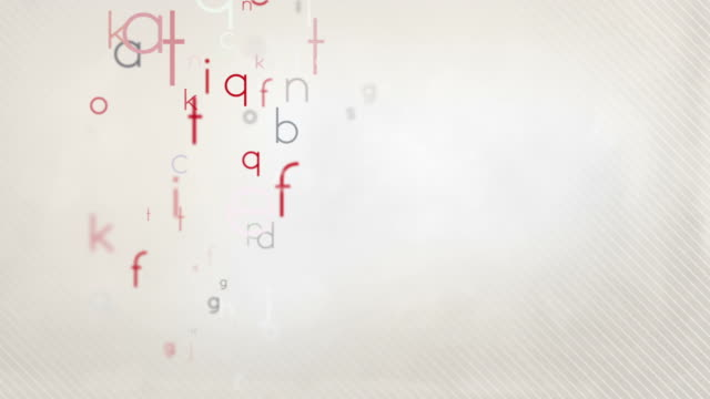 Colorful Alphabet Letters Background Loop - Pastel Red HD