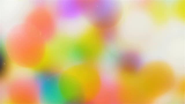 Bunte Kugeln Lichtreflexion Hintergrund