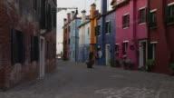 WS TU Colorful buildings and narrow street / Murano