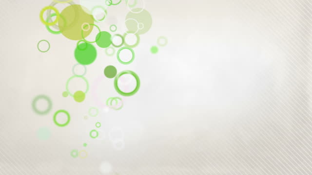 Colorful Circles Background Loop - Pastel Green (Full HD)