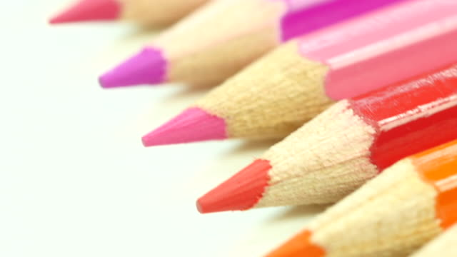 Colorful color pencil. Top view. From bottom to top.