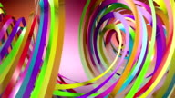 Colorful Distorted Ribbons Flowing In The Air