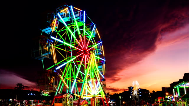 colorful light ferris wheel