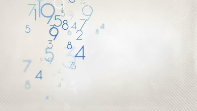 Numeri colorati di sfondo blu pastello HD Loop