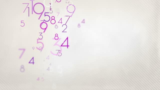 Colorful Numbers Background Loop - Pastel Pink HD