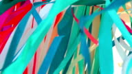 colorful ribbons in the wind