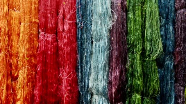 colorful silk yarns