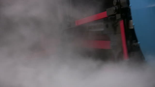 Colorful Steam Engine Close-up