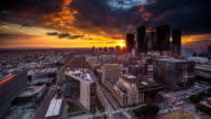 Colorful Sunset in DTLA - Time Lapse