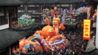 Colourful dragon statue Chinese New Year, Yuyuan Garden, Shanghai, China, Asia