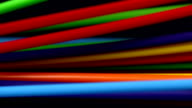 Colourful electric wires waving and moving