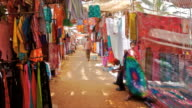 T/L colourful fabrics market, Anjuna Market Passage, Goa
