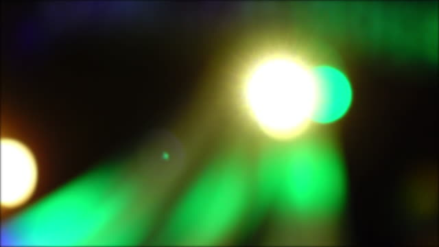 colourful light in night club party, 4k blur shot