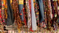 Colourful pashmina shawls
