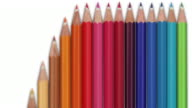 Colourful Pencils Animation - Vertical loop (with Alpha)
