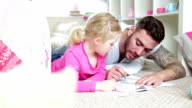 Colouring in with Daddy