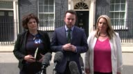 London Downing Street EXT Colum Eastwood press conference SOT