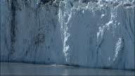 Columbia Glacier calves in Alaska. Available in HD.