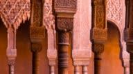 Columns in Alhambra of Granada