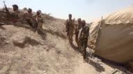 Combatientes chiitas de las Unidades de Movilizacion Popular participan en los combates de Al Anbar para ganar posiciones frente al grupo Estado...