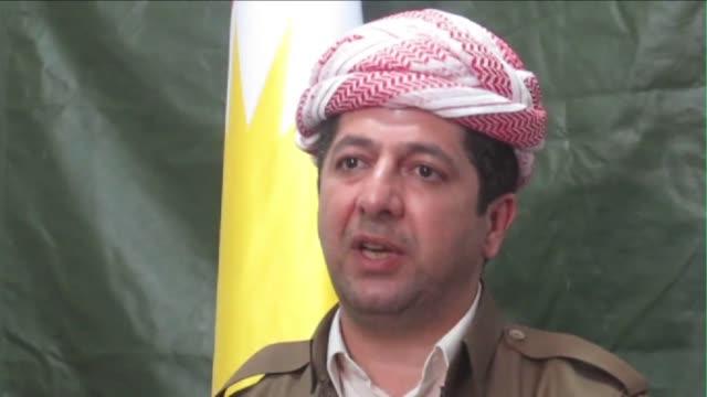 Combatientes kurdos peshmergas con apoyo aereo internacional tomaron zonas controladas por los yihadistas en una de las avanzadas mas importantes...