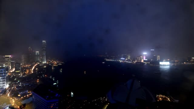 A combination of 314 still images shot over an eighthour period create a timelapse view typhoon Fanapi as it hit Hong Kong on Monday night Hong Kong...